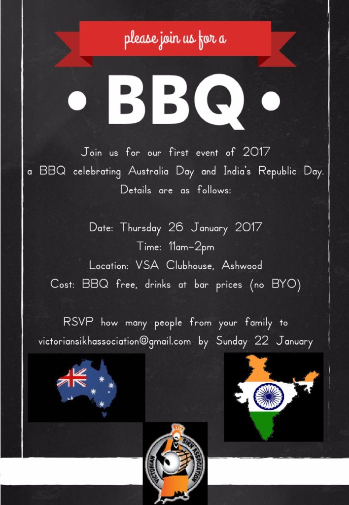 BBQ Invitation 26 January 2017